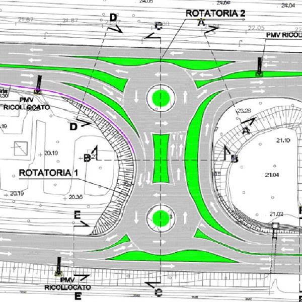 Rotatorie accesso autostradale